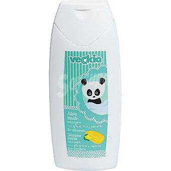 VECKIA Jabon liquido infantil extrasuave con glicerina y mimosa frasco 300 ml