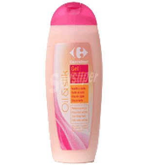 Carrefour Gel de baño oil&silk Bote de 500 ml