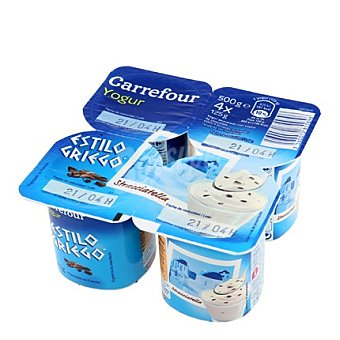 Carrefour Yogur griego stracciatela Pack 4x125 g