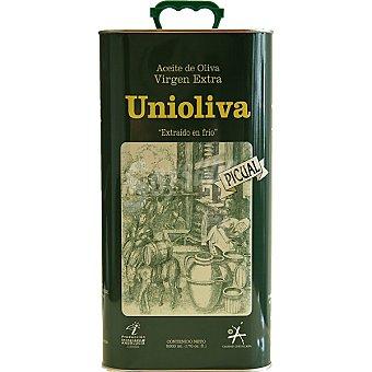 Unioliva aceite de oliva virgen extra picual  lata 5 l