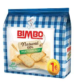 Bimbo Pan tostado Multicereales 100% Natural rebanadas 20 ud
