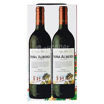 """Viña Alberdi Estuche de vino D.O. Ca. """"rioja"""" tinto crianza Pack 2x75 cl"""