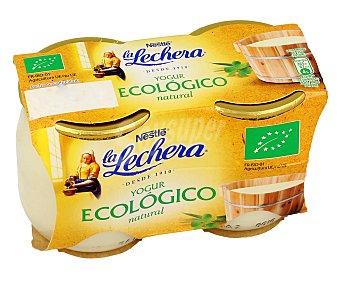 La Lechera Nestlé Yogur ecológico natural Pack 2 vasos x 125 g