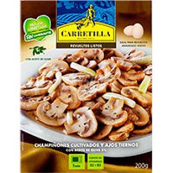 Carretilla Champiñones-ajos tiernos Bandeja 200 g