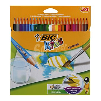 Bic Lápices de Colores Aquarelables 24 ud