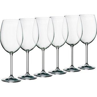 CASACTUAL Bohemia Copas de Vino de cristal 59 cl set de 6 unidades 59 cl
