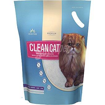 CLEAN CAT Lecho higienico de larga duracion sin olores Paquete 18 kg