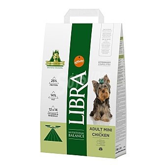LIBRA Pienso para perros adultos minis pollo 3 kg