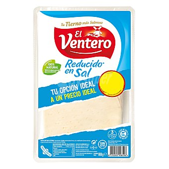 El Ventero Queso tierno bajo en sal en lonchas El Ventero sin gluten 80 g