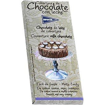HIPERCOR cobertura de chocolate con leche fácil de fundir tableta 200 g