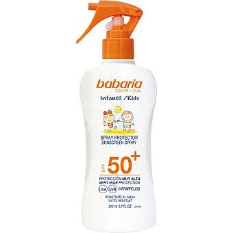 Babaria Spray protector infantil FP-50+ resistente al agua spray 200 ml spray 200 ml