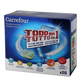 Carrefour Lavavajillas máquina todo en 1 en pastillas 26 ud
