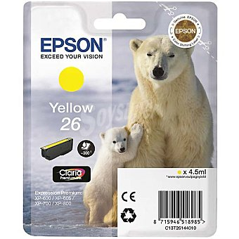 Epson Nº 26 cartucho de tinta color amarillo