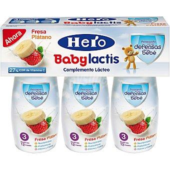 Hero Baby Complemento lácteo con fresa y plátano Lactis Estuche 300 ml