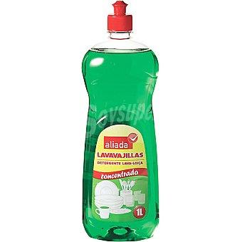 Aliada Lavavajillas a mano concentrado verde Botella 1 l