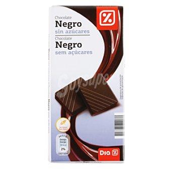 DIA Chocolate negro sin azúcar Tableta de 100 g