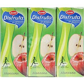 Juver Disfruta Zumo de manzana sin azúcar Pack 3 envase 200 ml