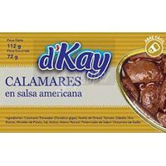 DKAY Calamar en trozos en salsa americana Lata 112 g