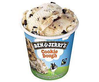 Ben & Jerry's Helado Cookie Dough (helado de vainilla con trozos de galleta y chocolate) Tarrina 500 ml