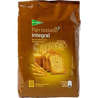 El Corte Inglés pan tostado integral con alto contenido en fibra 30 rebanadas  paquete 270 g