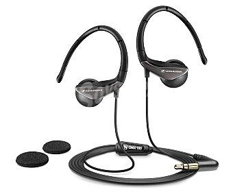 SENNHEISER OMX 185 Auricular deportivo negro, con cable y control de volumen,