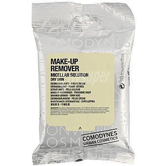 COMODYNES Toallitas desmaquillantes piel sensible seca 20 unidades