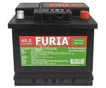 FURIA Batería de Automóvil de 12v y 60 Ah, Potencia de Arranque: 540 Amperios 1 Unidad