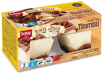 Schär Bonta d'italia tiramisú sin gluten 2 porciones individuales estuche 200 g Estuche 200 g