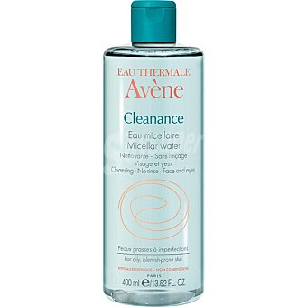 Avène Cleanance agua micelar desmaquillante sin aclarado para pieles grasas Frasco 400 ml