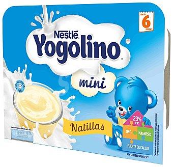 Iogolino Nestlé Iogolino mini natillas Pack 6 x 60 g