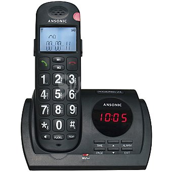 Ansonic ANS-100 Teléfono inalámbrico Dect en color negro