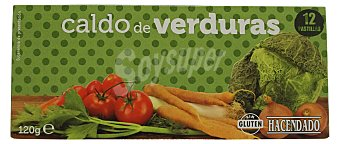 Hacendado Caldo deshidratado pastillas vegetal Caja 12 pastillas