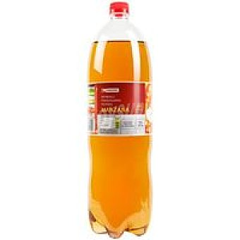 Eroski Refresco con gas sabor manzana Botella 2 litros