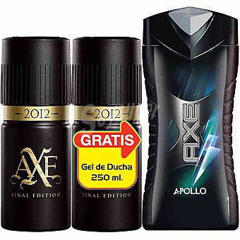 Axe Desodorante 2012 Final Edition pack 2 spray 150 ml + regalo gel de baño Apollo frasco 250 ml Pack 2 spray 150 ml