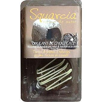 SQUARCIA TARTAS DE AUTOR Coulant Bizcochito artesanal de chocolate con crema de chocolate en su interior Estuche 240 g