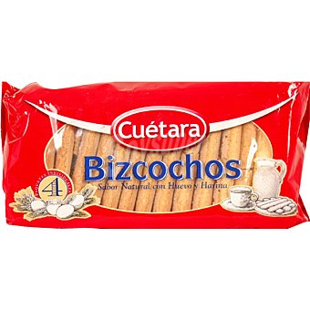 Cuétara Bizcochos sabor natural con huevo y harina 4 paquetes individuales Paquete 400 g