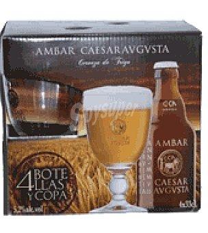 Ambar Caesaravgusta Cerveza de trigo Pack de 4x33 cl