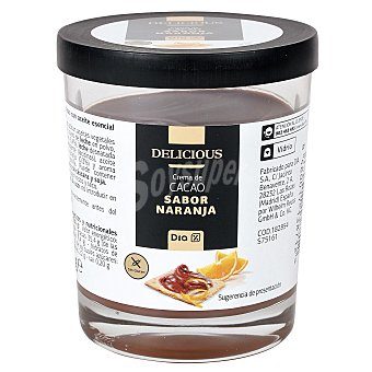 DIA Delicious Crema de cacao sabor naranja Vaso 200 gr
