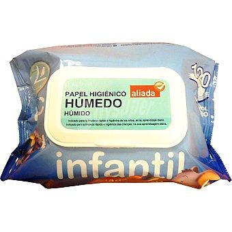 Aliada Papel higiénico húmedo infantil Paquete 120 unidades