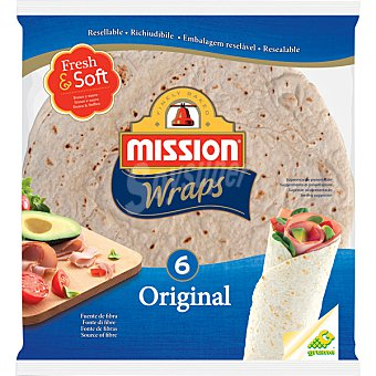 MISSION Wraps original 6 unidades (370 g)