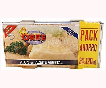 Orbe Atún en aceite vegetal Pack de 2 unidades de 73 gramos