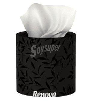 Renova Pañuelos faciales negro 3 capas 40 ud