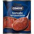Tomate natural triturado extra Lata 800 g Cidacos