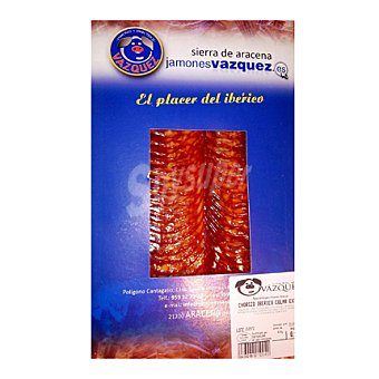 Vázquez Chorizo ibérico cular en lonchas 100 g