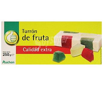 Productos Económicos Alcampo Turrón de mazapán y frutas 300 gramos
