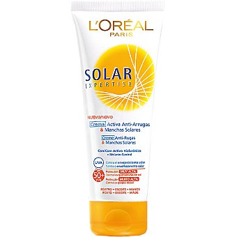 L'Oréal solar expertise Crema solar antiarrugas & manchas solares FP-50 tubo 75 ml para rostro escote y manos Tubo 75 ml