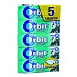 Chicle sabor eucalipto Pack 5 paquetes x 10 grageas Orbit