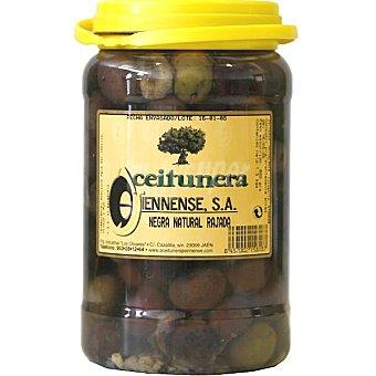 Aceitunera Jiennense Aceitunas negras partidas naturales Envase 650 g neto escurrido