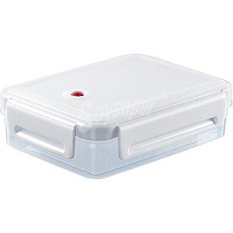 Curver Hermético rectangular transparente tapa blanca 1,1 l 1 Unidad