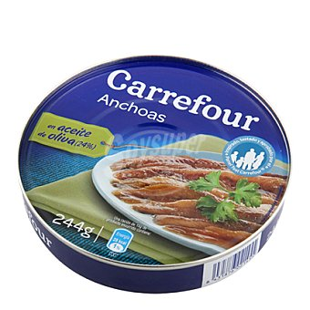 Carrefour Filetes de anchoa del Cantábrico en aceite de oliva 185 g